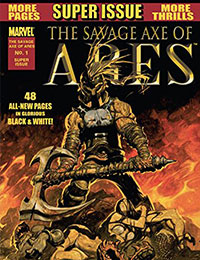 The Savage Axe of Ares (B&W)